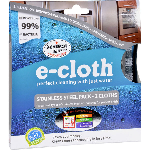 E-Cloth Stainless Steel Cleaning Cloth - 2 Pack - {shop_name}