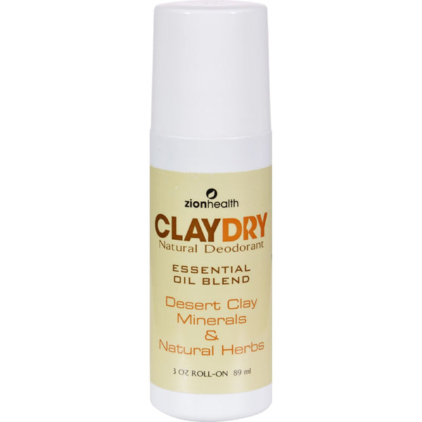 Zion Health Clay Dry Natural Deodorant - 3 oz - {shop_name}