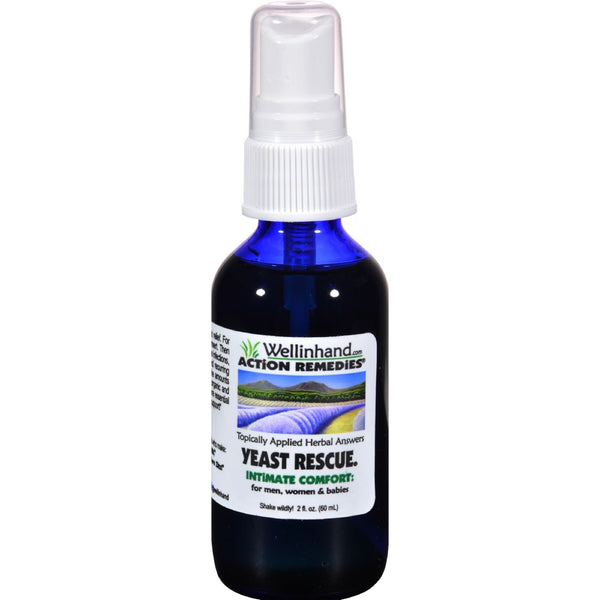 Wellinhand Yeast Rescue Spray - 2 fl oz -Personal Lubricant & Intimate Product- Allergy Free Me