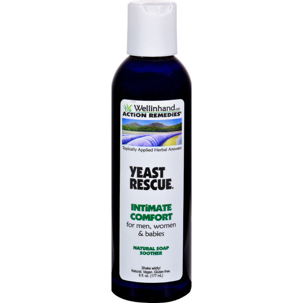 Wellinhand Yeast Rescue Soap - 6 fl oz -Personal Lubricant & Intimate Product- Allergy Free Me