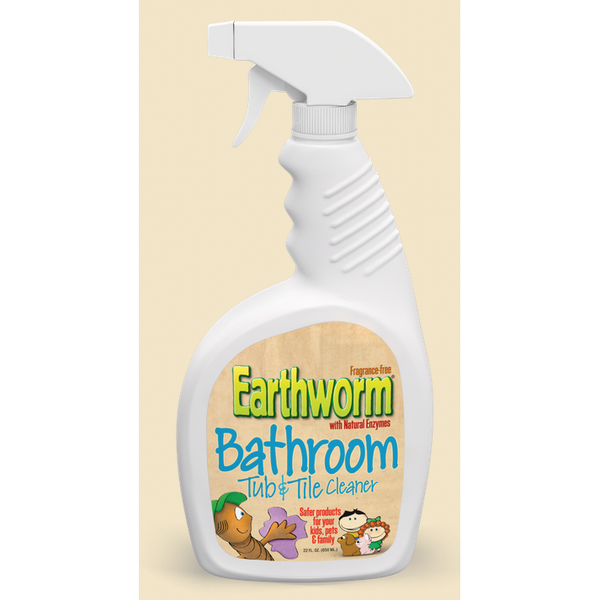 Earthworm Bathroom Tub and Tile Cleaner - Case of 6 - 22 FL oz. - {shop_name}