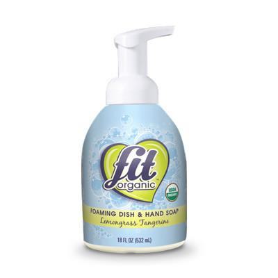 Fit Organic Foaming Dish and Hand Soap - Lemongrass Tangerine - Case of 1 - 18 FL oz. - {shop_name}