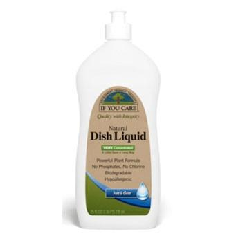 If You Care Dish Liquid - Free and Clear - 25 oz - Case of 12 -Dishwashing- Allergy Free Me