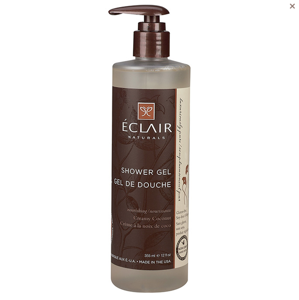Eclair Naturals Shower Gel - Creamy Coconut - Case of 1 - 12 oz. - {shop_name}
