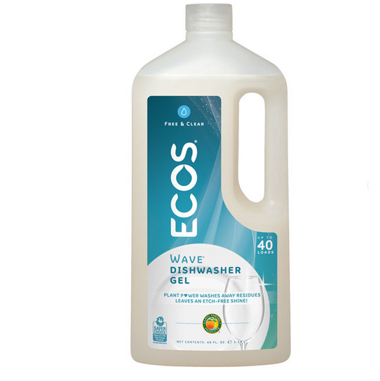 Earth Friendly Free and Clear Auto Dishwasher Gel - Case of 8 - 40 FL oz. - {shop_name}