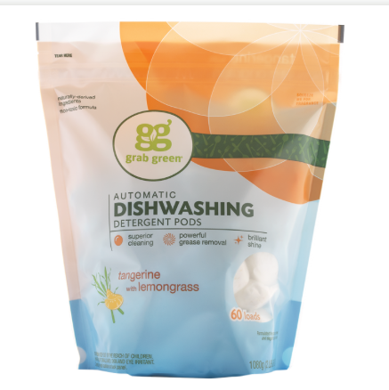 Grab Green Automatic Dishwasher - Tangerine with Lemongrass - Case of 4 - 60 Count - {shop_name}