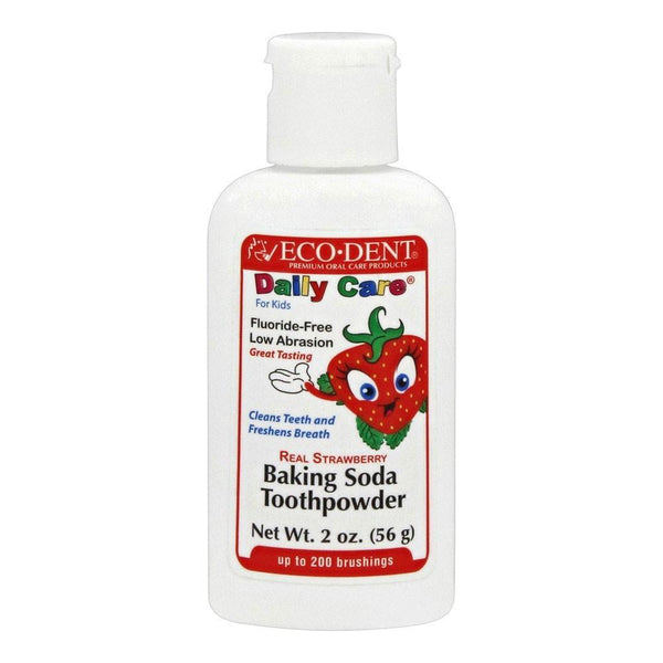 Eco-Dent Toothpowder - DailyCare - Kids - Strawberry - 2 oz -Baby Oral Care- Allergy Free Me
