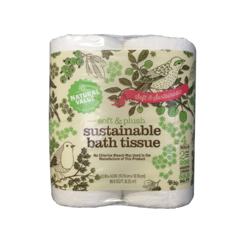 Natural Value Sustainable Bath Tissue - Case of 48 - {shop_name}