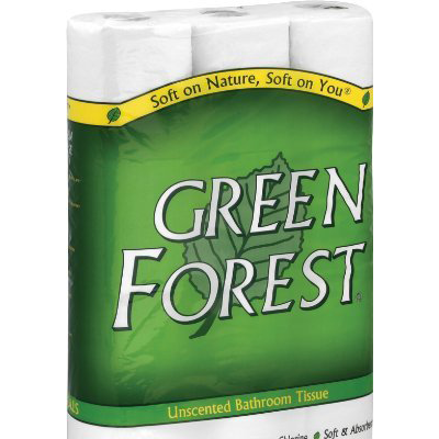 Green Forest Premium Bathroom Tissue - Unscented 2 Ply - Case of 8 - 12 - {shop_name}