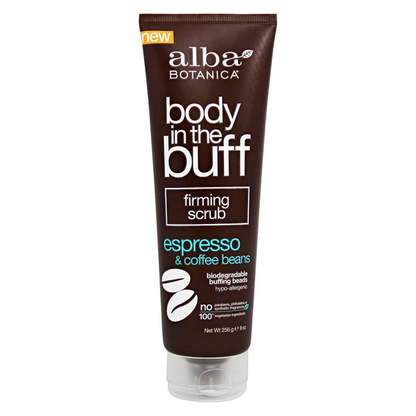 Alba Botanica Body In The Buff Scrub - Firming Espresso and Coffee Beans - Case of 1 - 9 oz. - {shop_name}