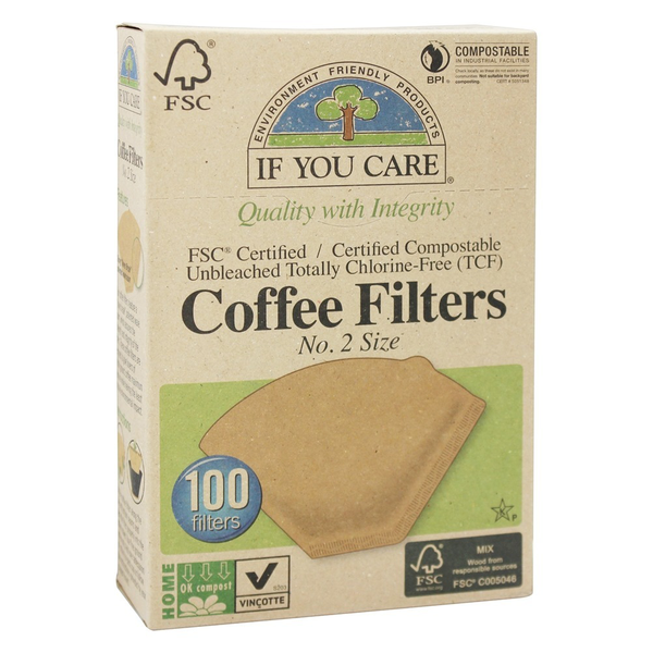 If You Care Coffee Filters - #2 Cone - Case of 12 - 100 Count - {shop_name}