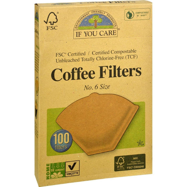 If You Care Coffee Filters - #6 Cone Unbleached - Case of 12 - 100 Count - {shop_name}
