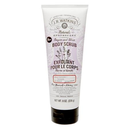 J.R. Watkins Body Scrub - 100 Percent Natural - Exfoliating - Sugar and Shea - Lavender - 8 oz -Body Scrub- Allergy Free Me