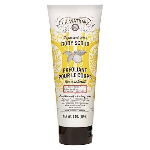 J.R. Watkins Body Scrub - 100 Percent Natural - Exfoliating - Sugar and Shea - Lemon - 8 oz -Body Scrub- Allergy Free Me