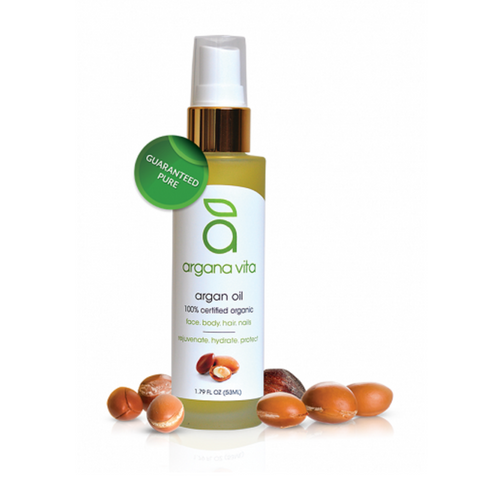 100% Pure Organic Argan Oil                                                                                                Cold-Pressed & Undeodorized