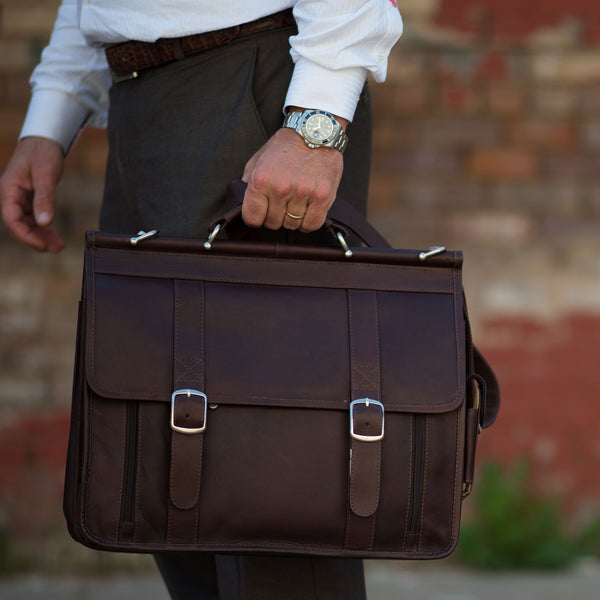 Leather Briefcases & Messenger Bags