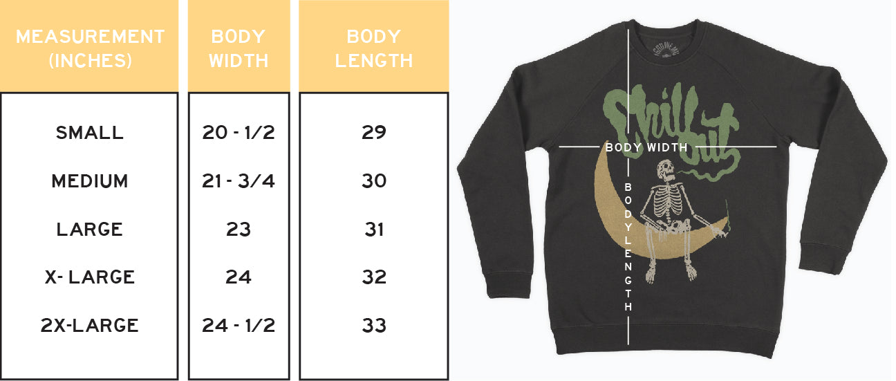 In God We Must Sweatshirt Sizing Guide