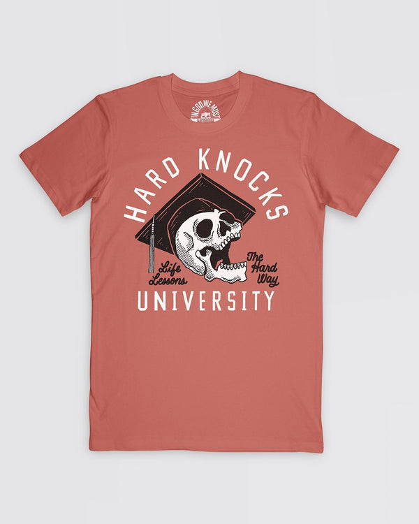 Hard Knocks University Tee Apparel In God We Must