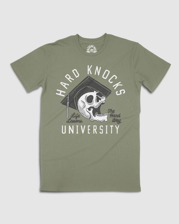 V.2 Hard Knocks University Tee Sale Item In God We Must
