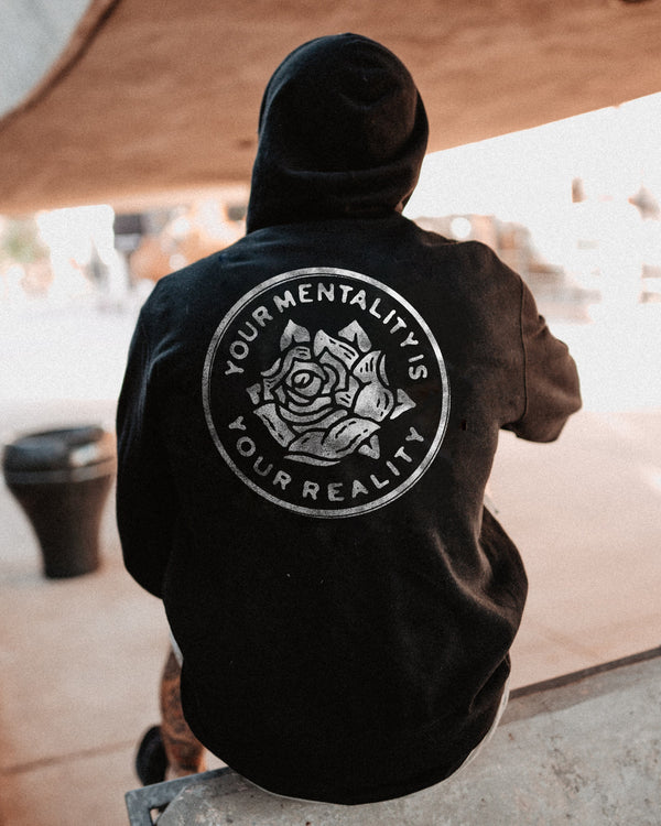 V.4 Mentality Pullover Hoodie Fleece In God We Must