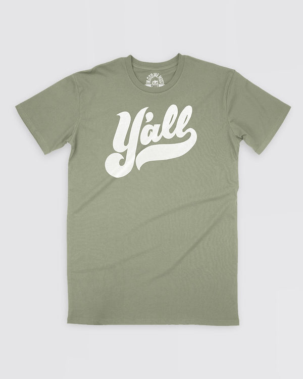 Y'all Tee - Olive Sale Item In God We Must
