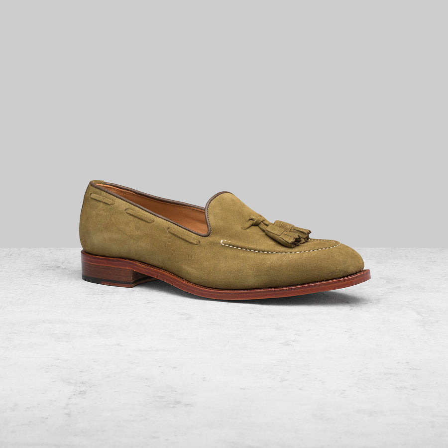 Abbey Loafer Army Green Suede