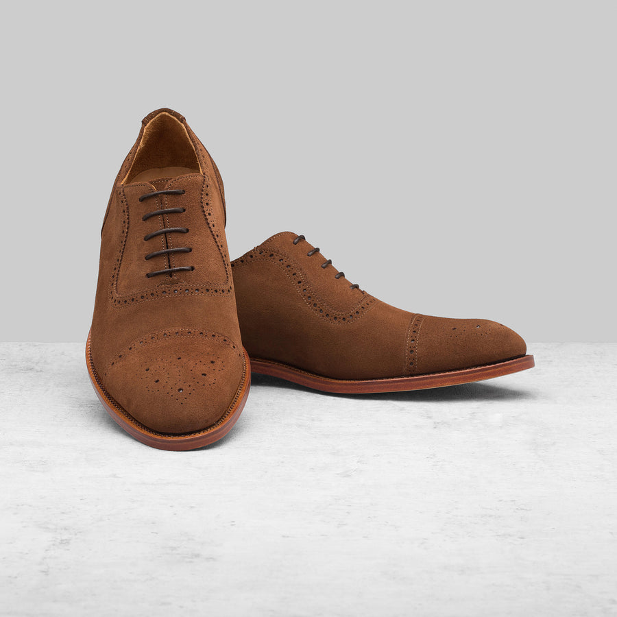 St James Brown Suede