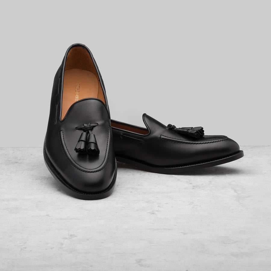 Abbey Loafer Black Leather