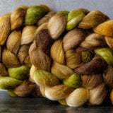 Polwarth/Silk Ultra spinning fiber: Masala Chai, 4 oz