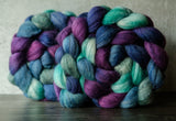 Polwarth/Silk Ultra spinning fiber: Siren Song variation, 4 oz