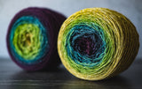 Gradient sock-weight yarn: This Is Home