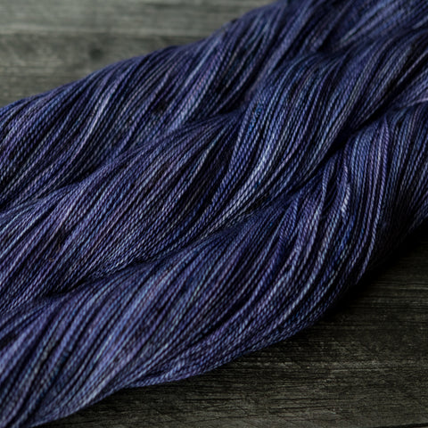 Cascara Lace: blurple with speckles