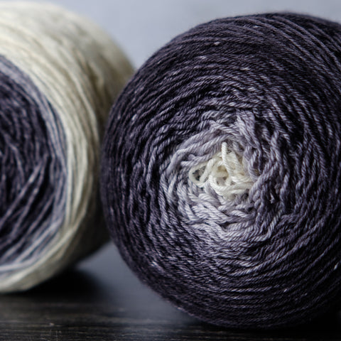 Gradient sock-weight yarn: Gandalf