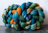 Targhee/silk spinning fiber: Copper Canyon