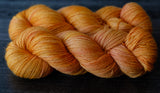 Willow Sock: creamy orange