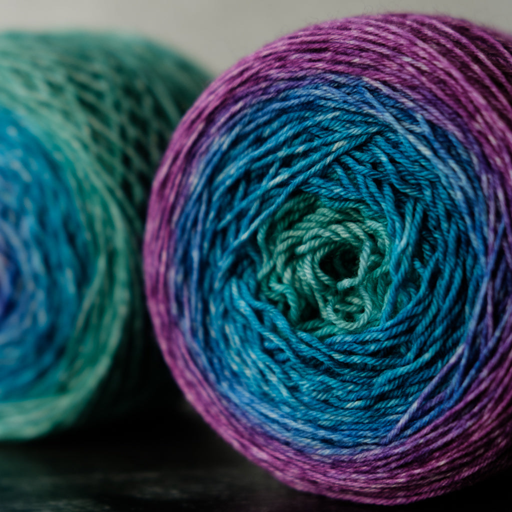 Gradient sock-weight yarn: Eliza