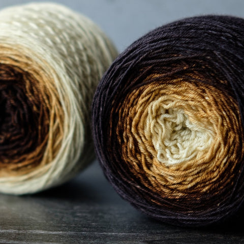 Gradient sock-weight yarn: Rise Up