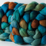 Polwarth/silk spinning fiber: Copper Canyon