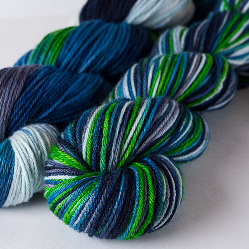 Superwash worsted yarn: Legion of Boom, 3.5 oz