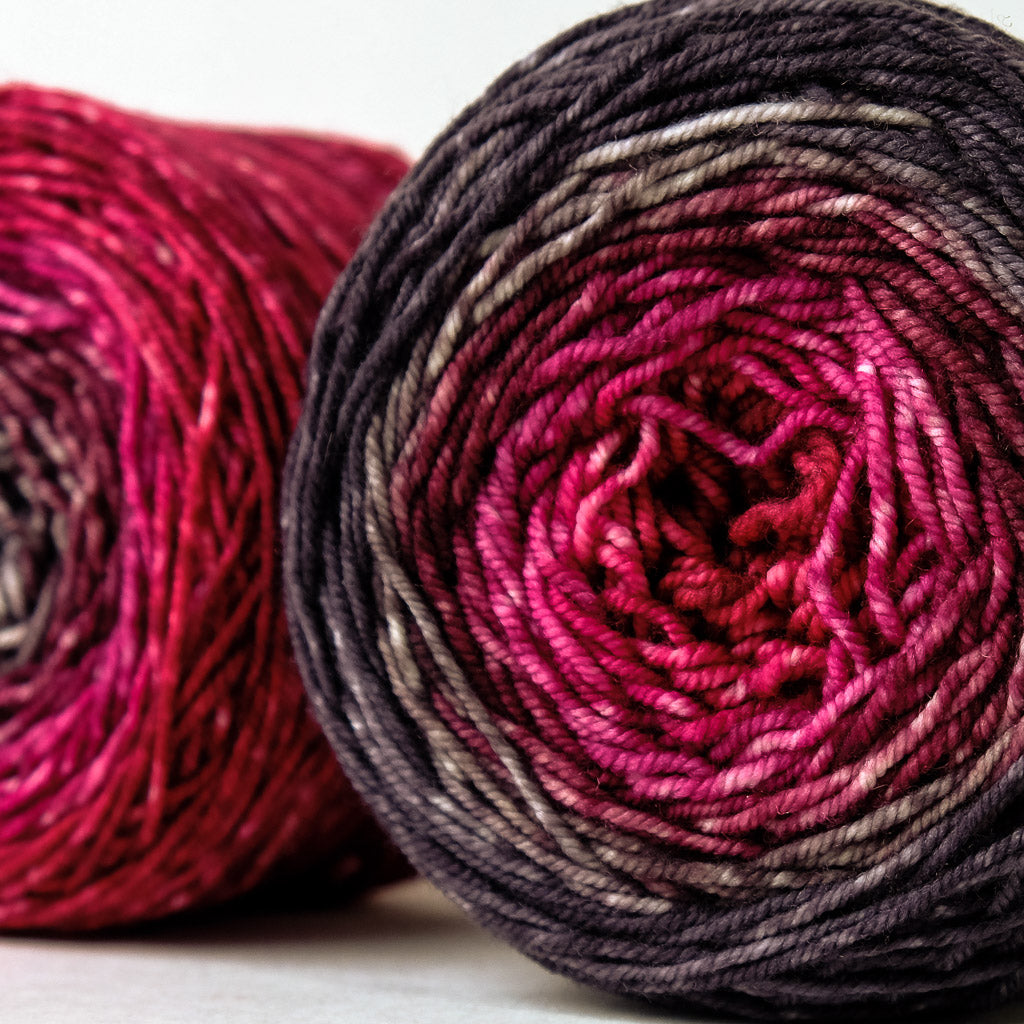 DK Gradient: cherry through charcoal