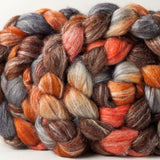 Merino Bamboo Silk spinning fiber: Captain Tightpants, 4 oz