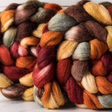 Merino/silk spinning fiber: Breath of Autumn
