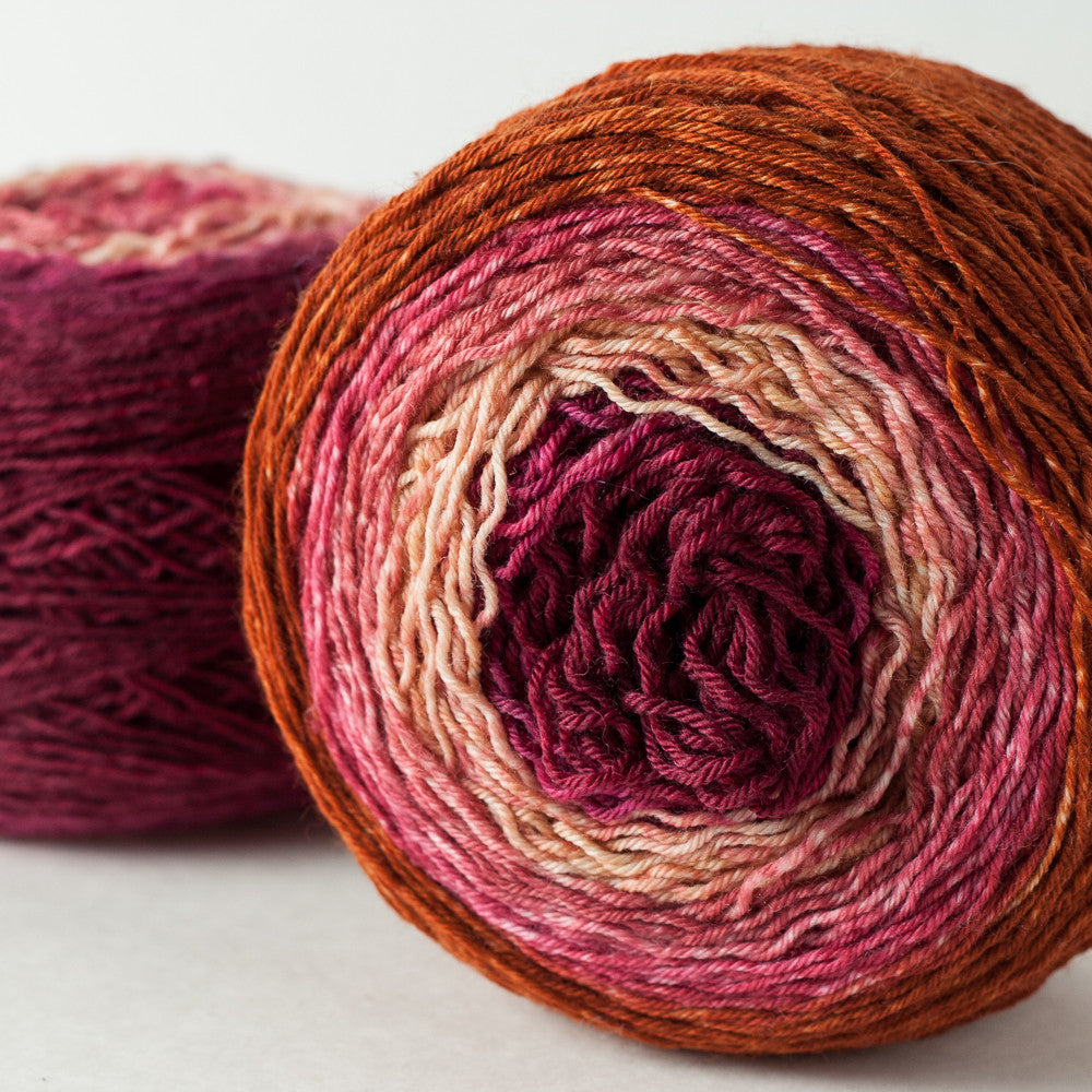 hand-dyed gradient sock yarn