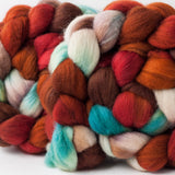 Organic Polwarth combed top: , 4 oz