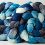 Polwarth/Silk Ultra spinning fiber: Owl Moon, 4 oz
