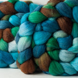 Polwarth/silk spinning fiber: Lark, 4 oz