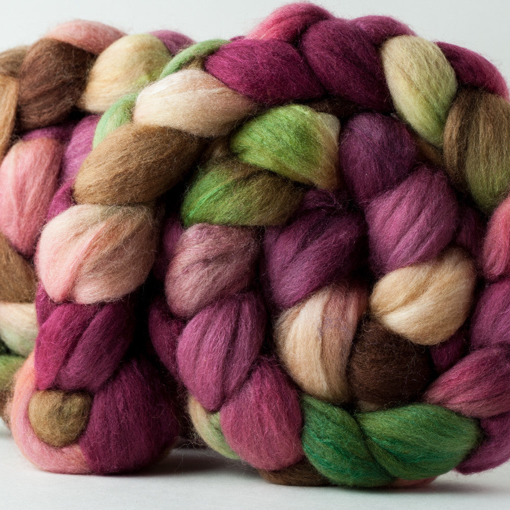 Polwarth/silk spinning fiber: Sansa Apple