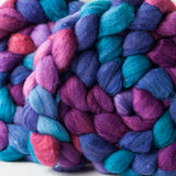 Targhee/silk spinning fiber: Dreamlands, 4 oz
