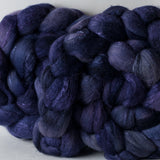 Targhee/silk spinning fiber: Twilight, 4 oz