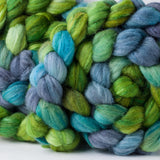 Targhee/silk spinning fiber: Whisper of Spring, 4 oz